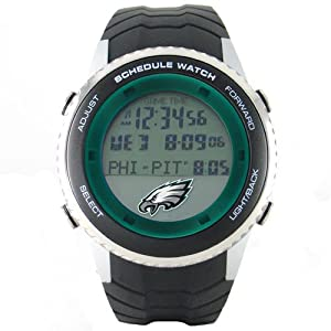 Philadelphia Eagles NFL Mens Schedule Watch by Game Time