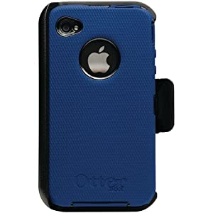 OtterBox Universal Defender Case for iPhone 4 (Zircon Blue Silicone & Black Plastic)