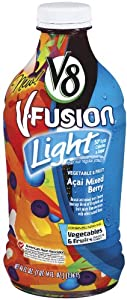 V8 V-Fusion Light Acai Mixed Berry Juice Drink, 46-Fl Oz Bottles (Pack of 8)