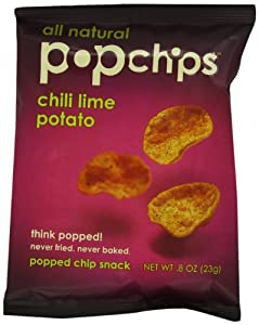 Popchips, Chili Lime, 0.8-Ounce Single Serve Bags (Pack of 24)