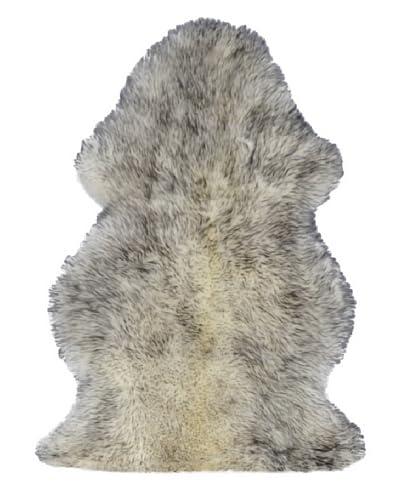 Natural Brand New Zealand Sheepskin Single Rug, Gradient Grey, 2' x 3'