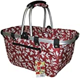 "JanetBasket Red Floral Large Aluminum Frame Bag 18""X10""X9 1/2"" NB009-L from NCM Canada, Inc."