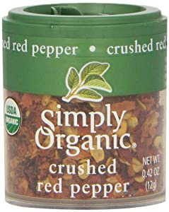 Simply Organic Red Pepper Crushed Certified Organic, 0.42-Ounce Containers (Pack of 6)