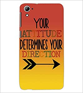PrintDhaba Quote D-2873 Back Case Cover for HTC DESIRE 826 (Multi-Coloured)