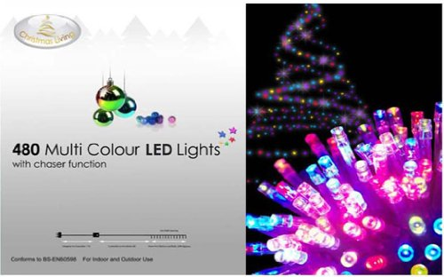 480 Multi Colour Led Christmas Lights With Chaser Function Tree Lighting Fairy Indoor & Outdoor Gifts