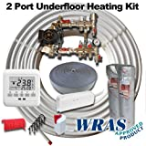 UNDER FLOOR HEATING WET KIT UPTO 40SQM / 2 CIRCUITS INC THERMOSTATS AND SFUF