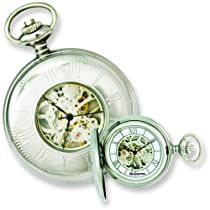 Swingtime Stainless Steel Mechanical Pocket Watch