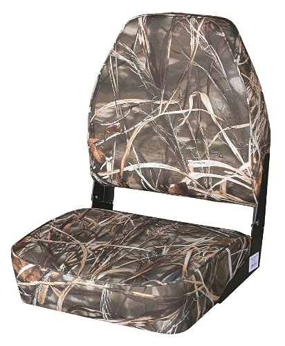 Wise High Back Camoflage Max 4 Camo Boat Seat