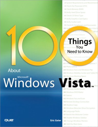 Image for 100 Things You Need to Know about Microsoft Windows Vista