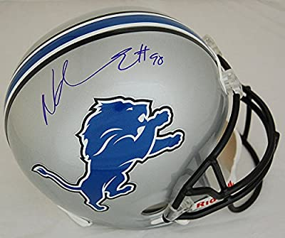 Ndamukong Suh Detroit Lions Autographed Full Size Replica Helmet - Certified Authentic - Licensed NFL Sports Gift