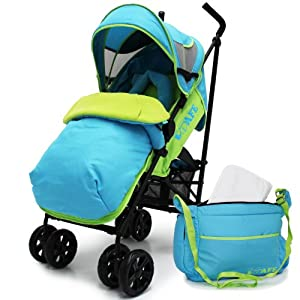 iSafe buggy Stroller Pushchair - Apple Slice Complete With Footmuff, HeadSupport, Bumper Bar, Changing Bag and Raincover