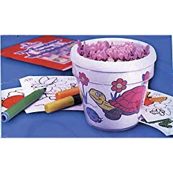 Bulk Buy: Darice Crafts for Kids Design-A-Flower Pot (6-Pack) 2406-11