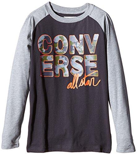 Converse Back Print-T-shirt Bambini e ragazzi,    Black (Stormwind) 12-13 anni