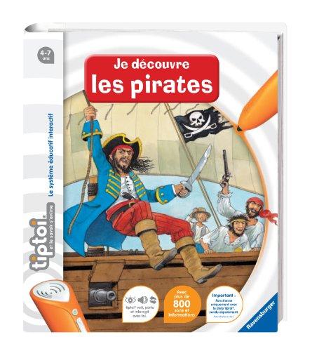 Ravensburger - 00591 -  Jeu Éducatif Électronique - Tiptoi - Livre - Je Découvre les Pirates