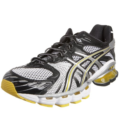 Asics Men's Gel Kinsei 3 Running Shoe Black/Silver/Yellow T937N9093 10 UK