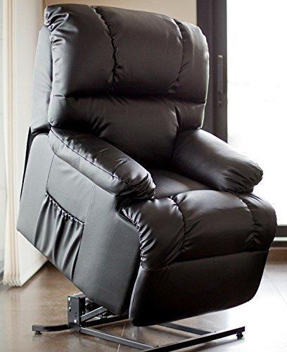 Poltrona per relax e massaggi, mod. Irene, con sistema di reclinazione automatica nero