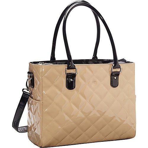 JP Lizzy Patent Classic Diaper Bag-Caramel - 1