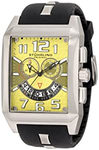 Stuhrling Original Men's 255A.331718 Leisure Mad Man C-2 Swiss Quartz Chronograph Date Yellow Watch