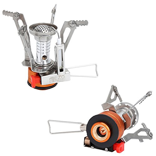 Pack of 2 EZOWare Portable LightWeight Mini Outdoor Backpacking Camping Stove Burner Cookware