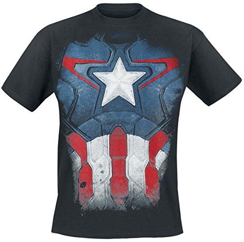 Captain America Captain Suit T-Shirt nero S