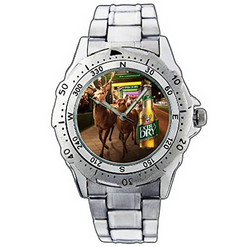 mens-wristwatches-pe01-1300-tooheys-extra-dry-bottle-nocturnal-migration-stainless-steel-wrist-watch