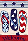 BreezeArt Patriotic Flip Flops Garden…