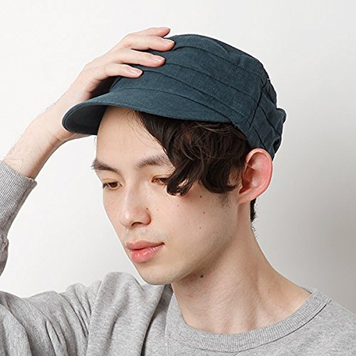カスターノ(CASTANO) 帽子(麻ドゴールキャップ)【ネイビ-/**】