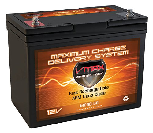 MB96-60 EJ Vmaxtanks AGM Battery 60ah Comp. With Everest & Jennings Wheelchairs Magnum Power Recliner & More & Golf Cart Deep Cycle Hi Performance Vmax Battery (Recliner Cycle compare prices)