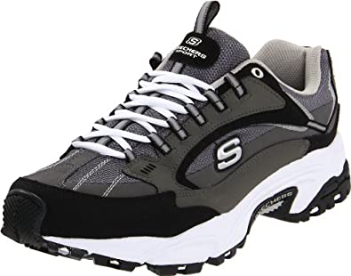 Skechers Men's Stamina Nuovo Sneaker,Charcoal/Black,7 M US