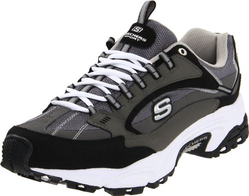 Skechers Men's Stamina Nuovo Sneaker,Charcoal/Black,9 M US