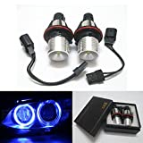 GFJMC One Pair Blue Angel Eyes Car Bulb for BMW E39 E53 E83 E60 E61 E64 E65 E66(12V 6W) Error Free