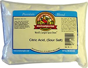 Citric Acid, (Sour Salt), Bulk, 16 oz