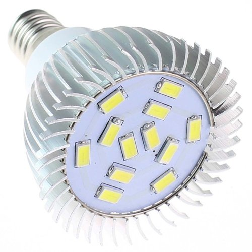 Huoshang E14 5W 450-Lumen 12 Smd 5630 Led High Power Spotlight Bulb Lamp Ac 220-240V Pure White