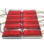 トラック 用 角型 18 LED サイド マーカー ランプ ライト 12V 24V 兼用 10個 セット ホワイト アンバー レッド ブルー グリーン カラー 各種 ダンプ カー トレーラー デコトラ 等 (レッド)
