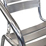2-Stck-Bistrostuhl-Stapelstuhl-Gartenstuhl-Balkonstuhl-Terrassenstuhl-Balkonmbel-Terrassenmbel-Aluminium-Silber