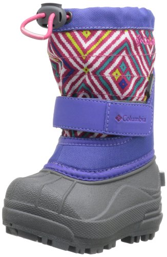 Columbia Toddler Powderbug Plus Ii Print Waterproof Winter Boot,Purple Lotus/Bright Rose,6 M Us Toddler back-410686