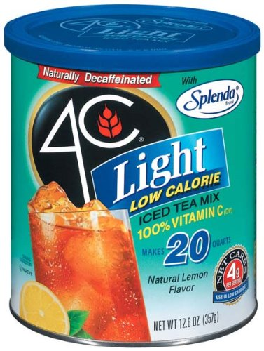 4C Iced Tea - Light Light Decaffeinated With Lemon - 12 Pack