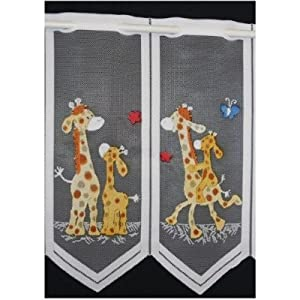 gardine kinderzimmer giraffe. Black Bedroom Furniture Sets. Home Design Ideas