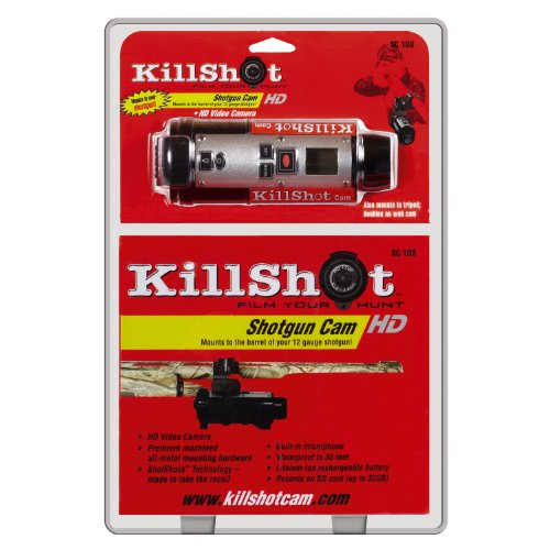 Killshot Camera With 12-Gauge Shotgun Barrel Mount, Black
