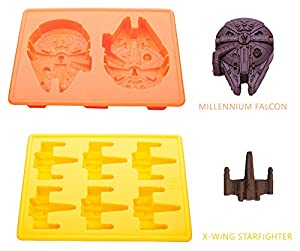 Silicone Molds for Star Wars Lovers By Vibrant Kitchen Ice Cube Trays and Candy Molds for Baking and Cool Drinks (Set of 7)