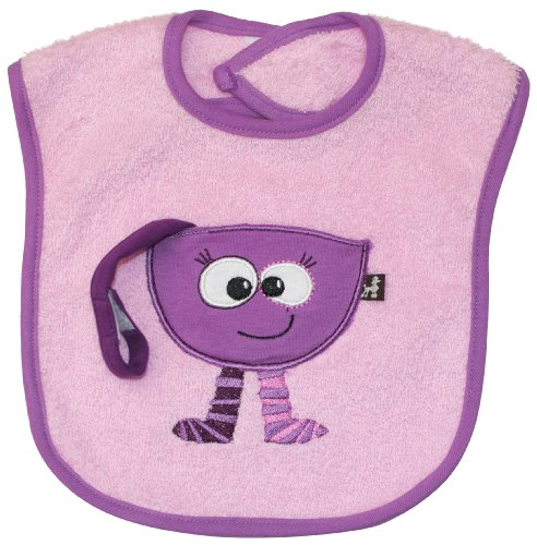 Treasure Pocket Bib (pink), Frenchie Mini Couture