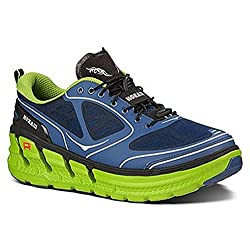 Hoka One One Mens M Conquest Navy Blue/lime/black Running