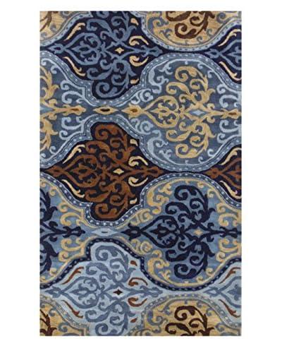 Moti-Meva Belize Blue Hand Tufted Rug, Blue, 5' x 8'
