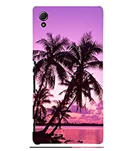 Evening at Ocean with Clouds 3D Hard Polycarbonate Designer Back Case Cover for Sony Xperia Z4