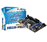 MSI H61M-P31-G3 Motherboard (Intel H61 Processor, 16GB RAM, M-ATX, Gigabit LAN, Socket LGA1155)