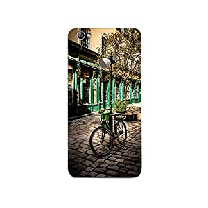 Mikzy Bicycle Parked With A Street Pole Printed Designer Back Cover Case for LeTv Le 1s