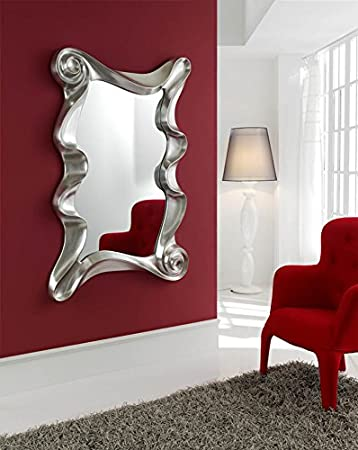 Dressing mirrors: CURVES Model silver colour