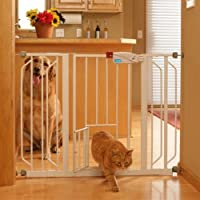 2 x Carlson Extra Wide Walk Through Gate with Pet Door, 29 to 44-Inch