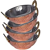 Prisha India Stainless Steel Karahi Pan Serving Bowl High Quality, Set Of 4
