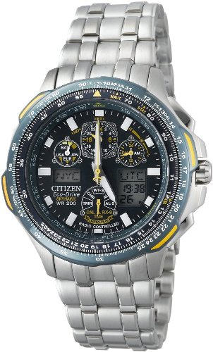Citizen Men's JY0040-59L Blue Angels Skyhawk A-T Stainless Steel Eco-Drive Watch (Citizen Ecodrive Blue Dial compare prices)